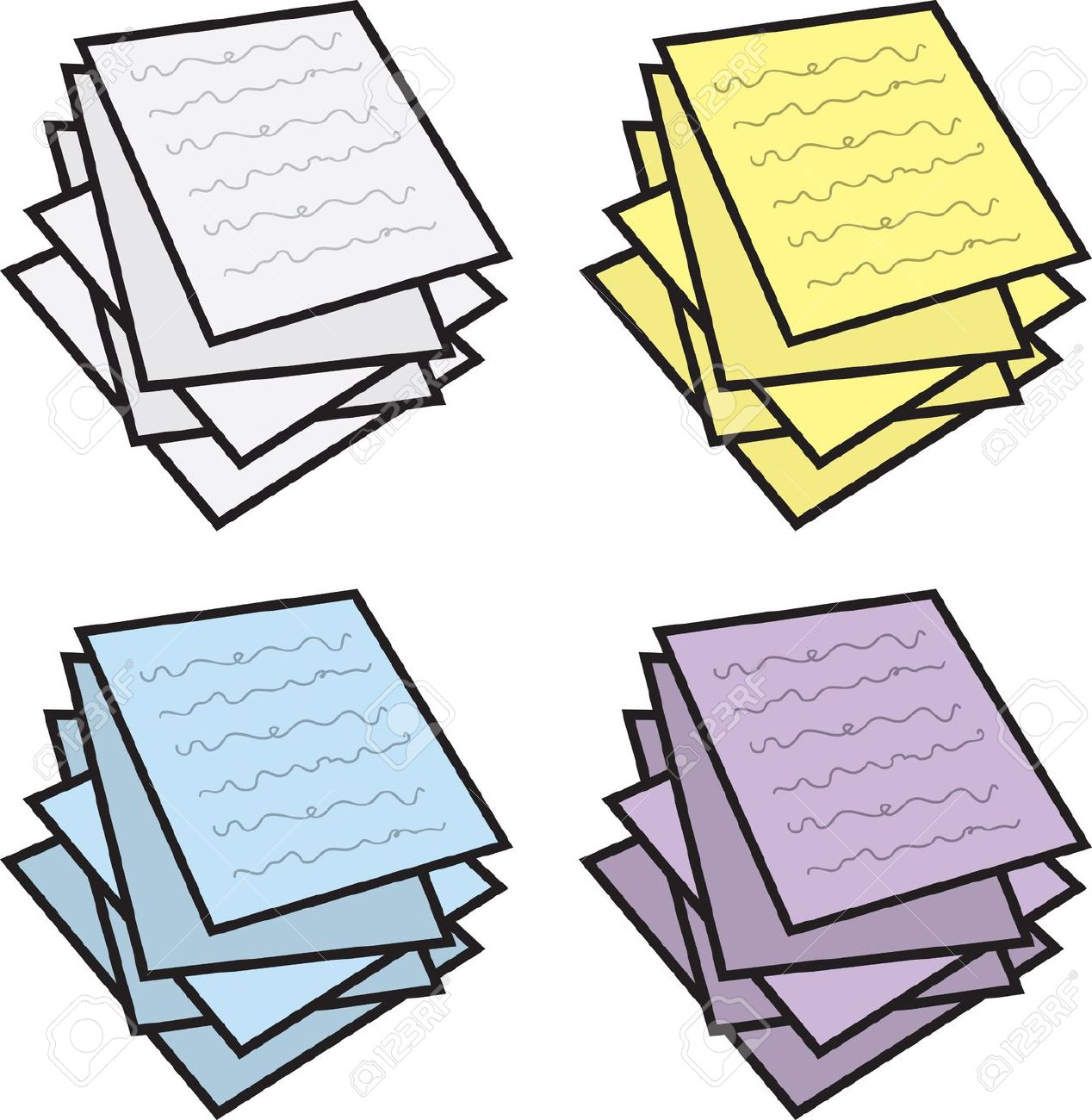 Paper clipart pile paper Paper clipart paper of Cliparting