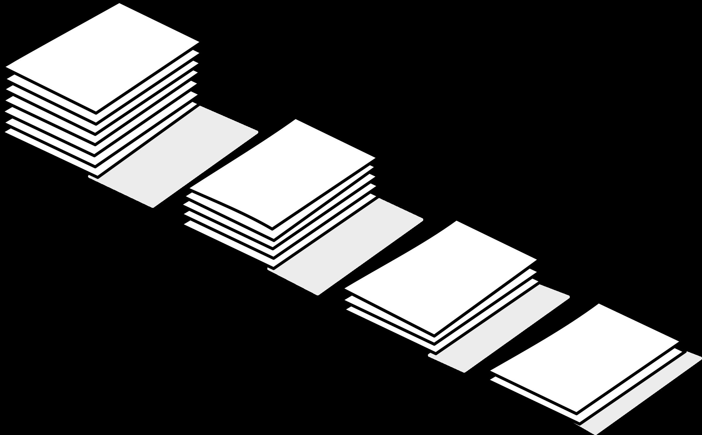 Paper clipart pile paper Papier piles of de Clipart