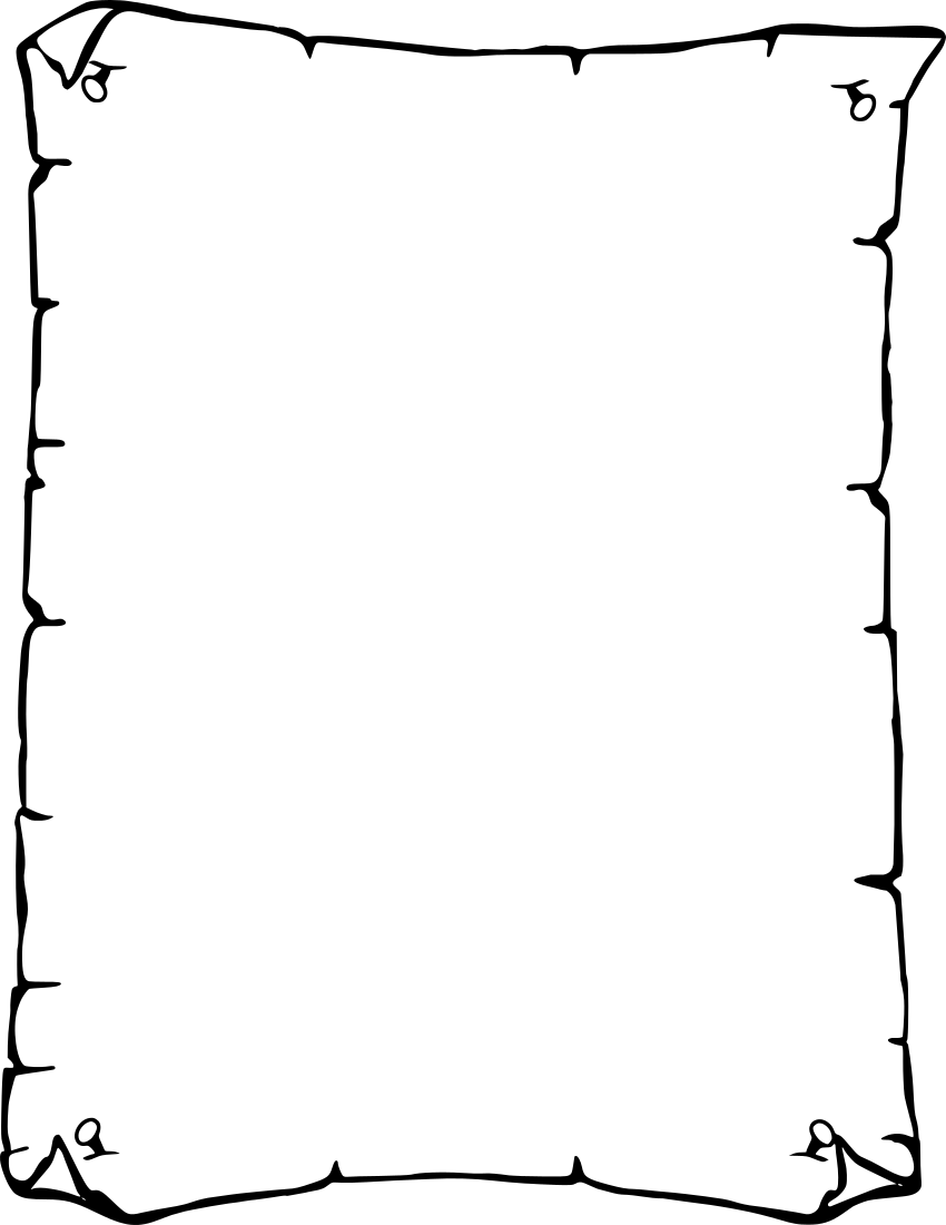 Drawn scroll paper border For Borders Free Designs Clipart