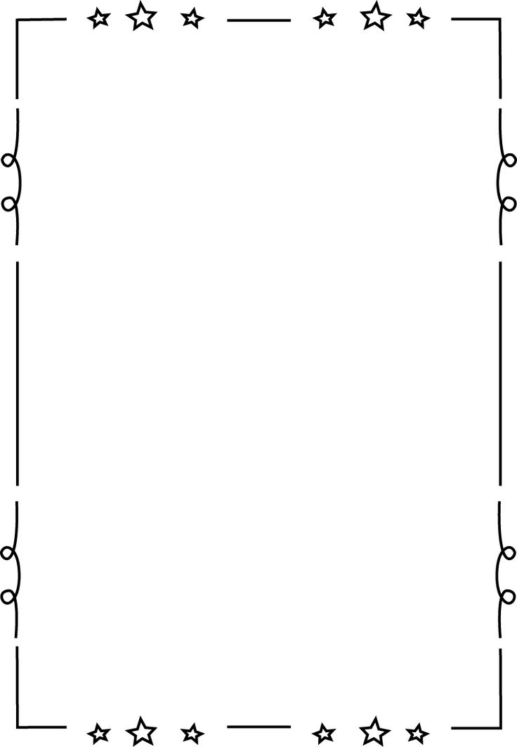 Stories clipart frame Printable Star border Loopy will