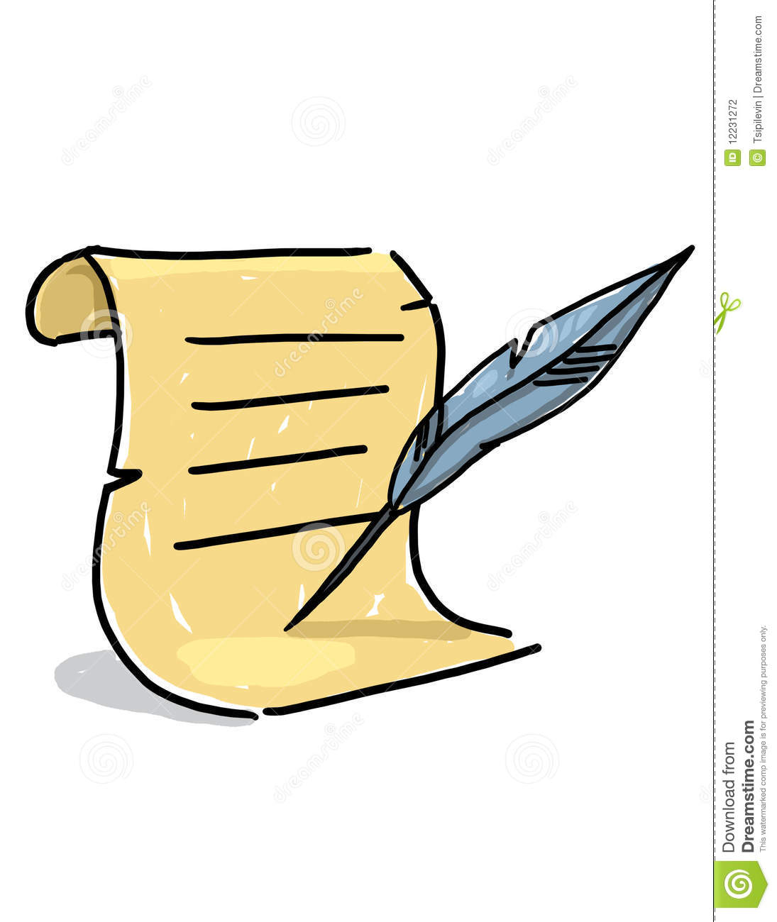 Quill clipart cartoon Download Scroll Scroll Quill Quill