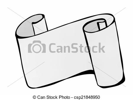 Paper clipart roled Illustration old of rolled paper