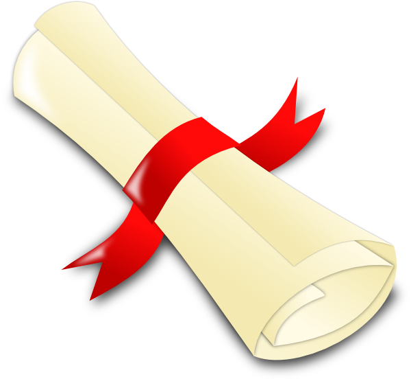 Paper clipart rolled Clip at vector royalty Diploma