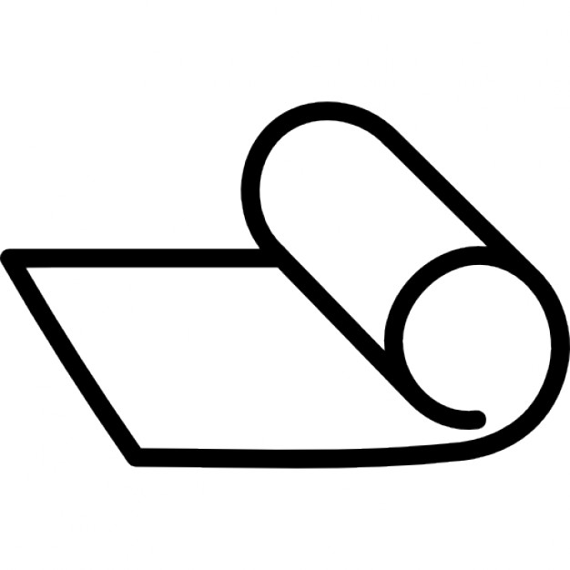 Paper clipart rolled And Roll Free roll Outline
