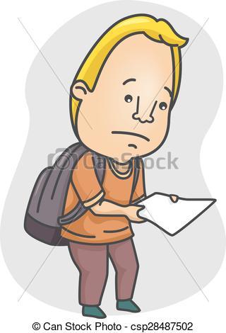 Paper clipart sad Of Sad Man Paper csp28487502