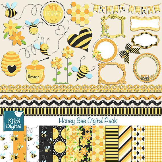 Cards clipart paper Honeybee and scrapbook Honey Honey