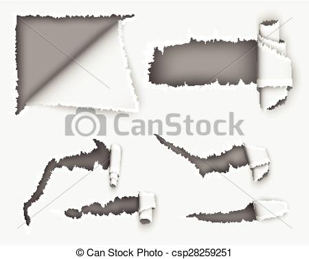 Paper clipart torn paper Notebook notebook of i in