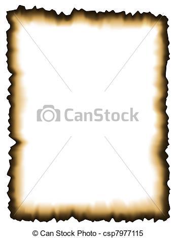 Paper clipart vector art Csp7977115 Burned Search Burned Clip