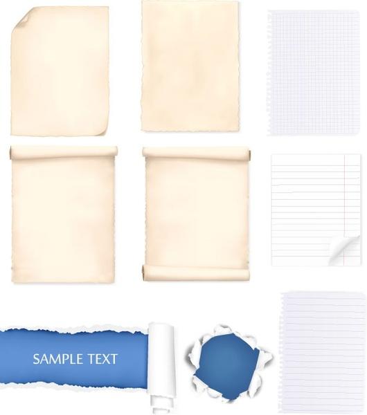 Paper clipart vector art (4 vector 401 commercial paper