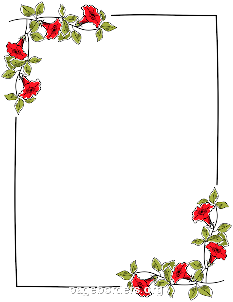 Word clipart flower Border Word or other Microsoft