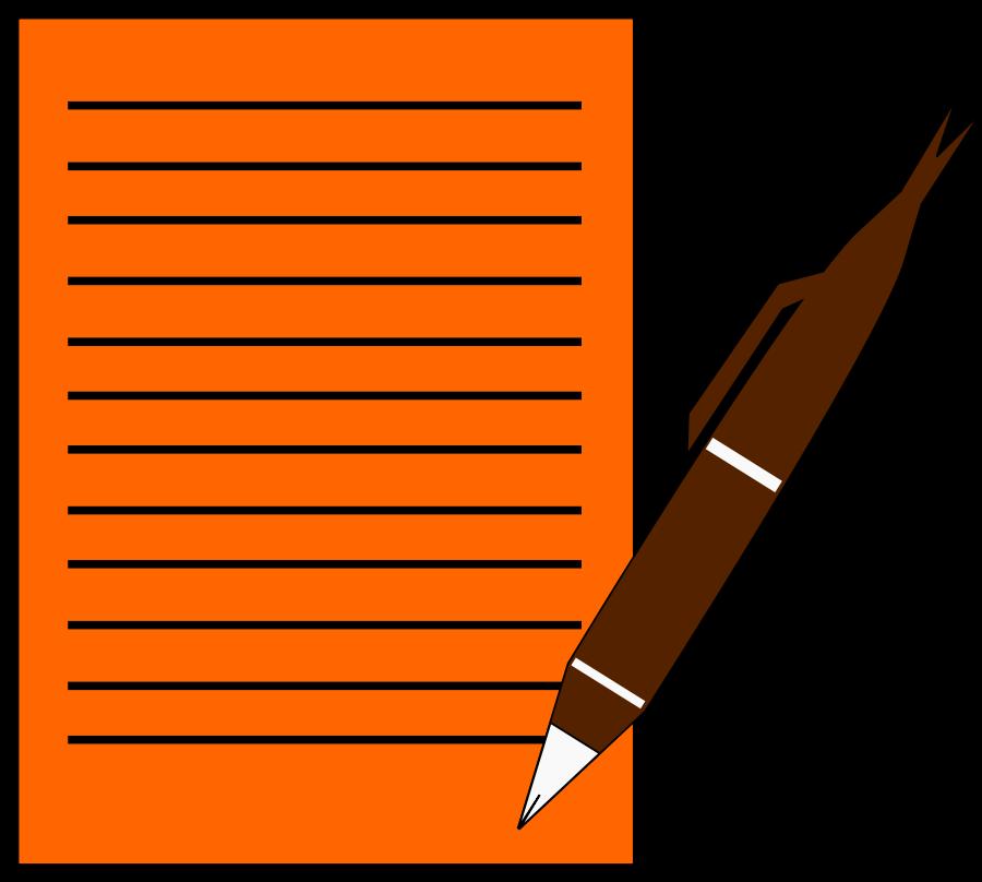 Pen clipart essay outline Paper clipart cartoon Pen paper