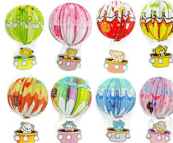 Paper Lantern clipart birthday party decoration Lantern for ball children's bear