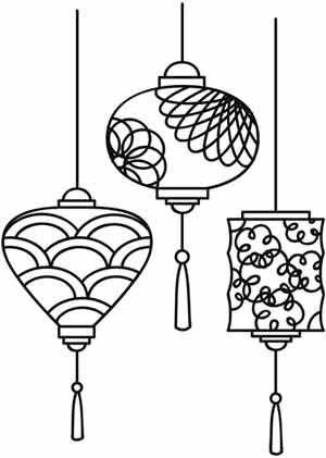 Paper Lantern clipart black and white Paper Lovely ideas 25+ Chinese