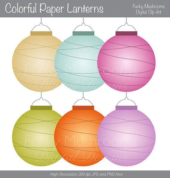Paper Lantern clipart border Lanterns 289 60 Design Stuff