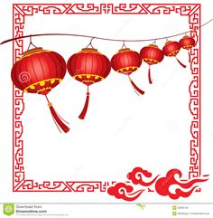 Paper Lantern clipart china Decorations String Red in saguaro
