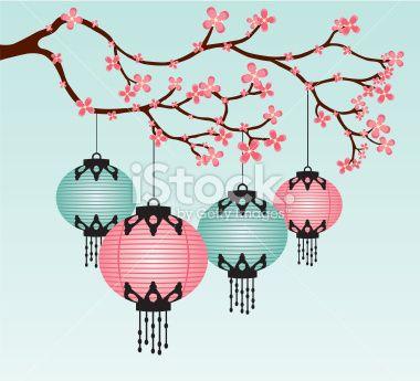Drawn sakura blossom chibi 2017 art Asian Year Chinese