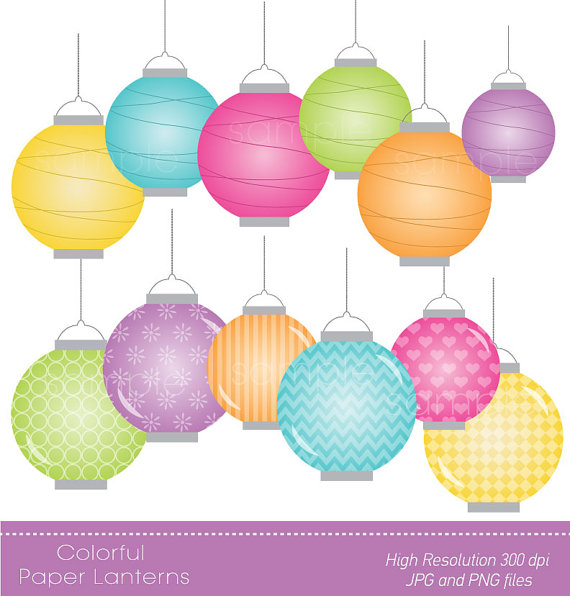 Paper Lantern clipart pastel USE Paper FOR  Paper