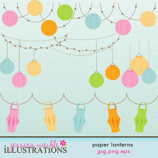 Paper Lantern clipart pastel Strands OK Graphics Cute Use