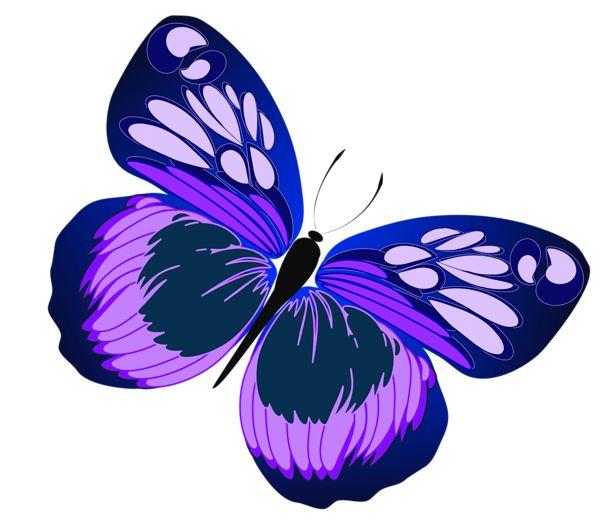Papillon clipart Decoupage best PNG on Blue