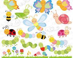 Papillon clipart bug  and Digital Clipart Cute