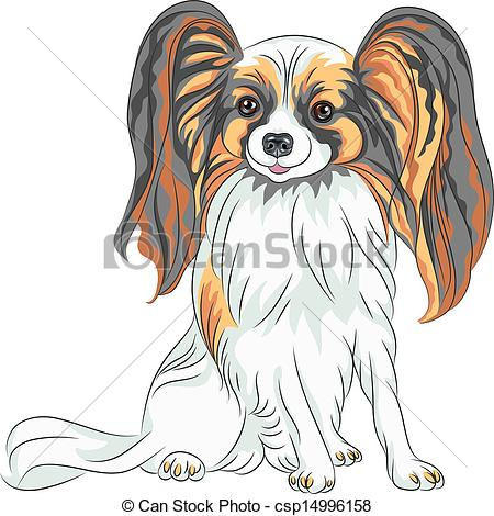 Papillon clipart cartoon Color of Papillon Clipart Vector