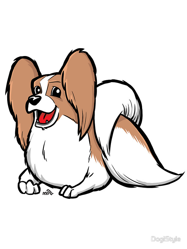 Papillon clipart cartoon Stickers DogiStyle cartoon dog