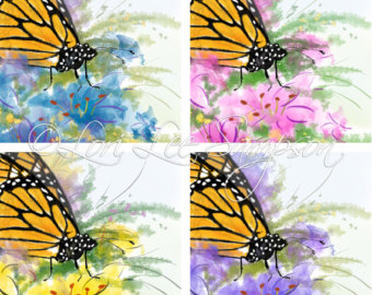 Papillon clipart cartoon Dog Rainbow 4 Butterflies Clipart