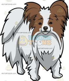 Papillon clipart small Cuddly Cartoon Dog Dog Clipart
