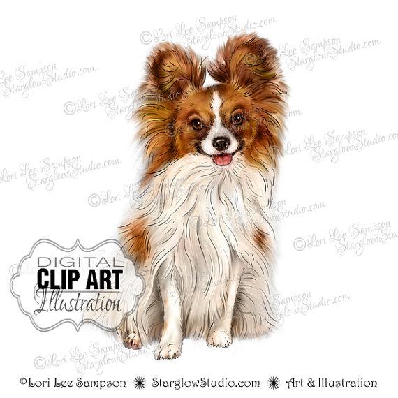 Papillon clipart summer Dog Art Dog Illustration Like