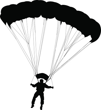 Skydiving clipart black and white Skydiving clipart Parachute clipart images