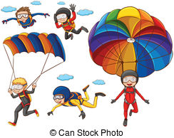 Parachutist clipart paraglider Parachute doing many of