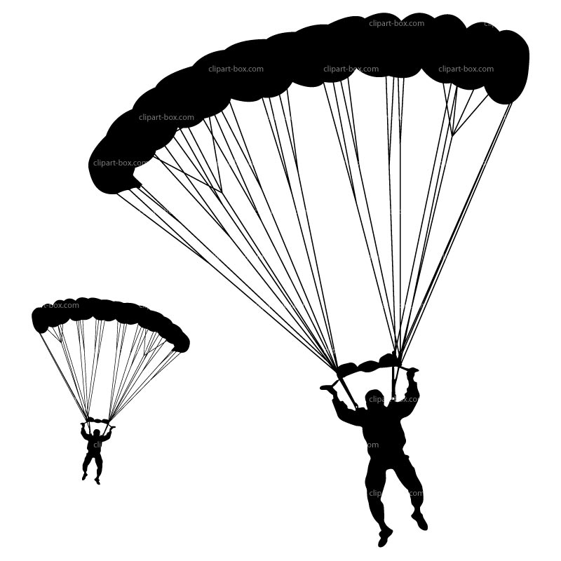 Parachutist clipart paraglider Silhouette Clipart Skydiving Clipart Army