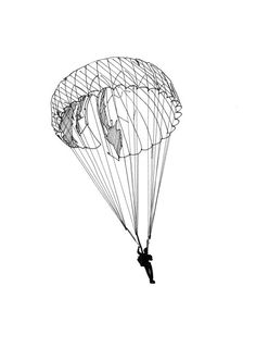 Parachute clipart airborne Lineart Illustration Line Vintage Download