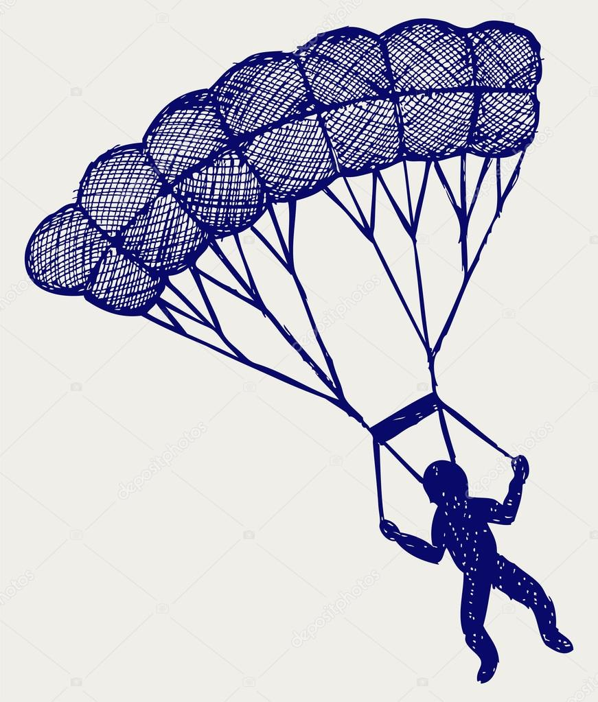 Parachute clipart paragliding Canyon Parachute Pictures Cartoon In