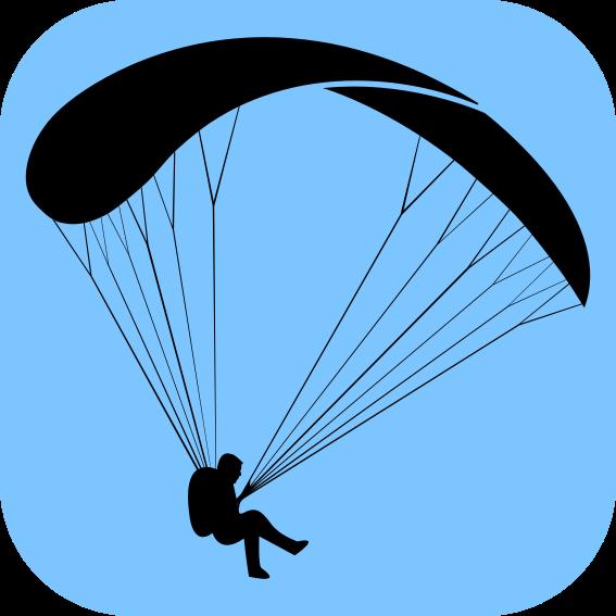 Parachute clipart paragliding Um um  simples parapente
