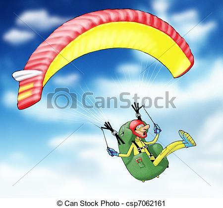 Parachute clipart paragliding Clipart of Gleitschirmflieger Stock paragliding