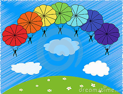 Parachute clipart rainbow Rainbow parachutes Parachute rainbow Clipart