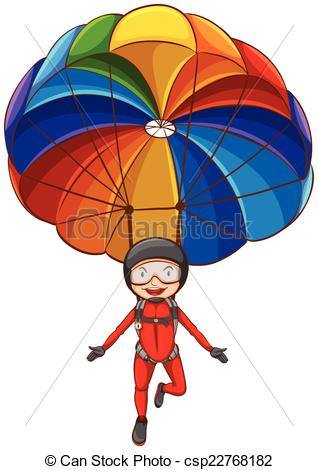 Parachute clipart rainbow Of simple  simple of
