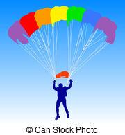 Parachute clipart rainbow A Skydiver Illustration Vector Art