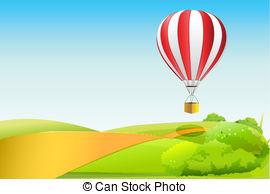 Parachute clipart rainbow Vector in  of sky