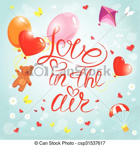 Parachute clipart outline Butterflies Hand on flowers calligraphic