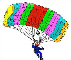 Parachutist clipart cartoon Skydiving Clipart Free or Skydiving