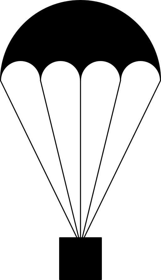 Parachutist clipart cartoon I2Clipart Domain Black Public Clipart