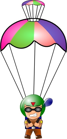 Parachutist clipart army parachute Vector clipart svg office Clipground