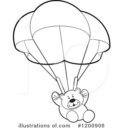 Parachute clipart outline Lal Teddy #1200906 Sample by