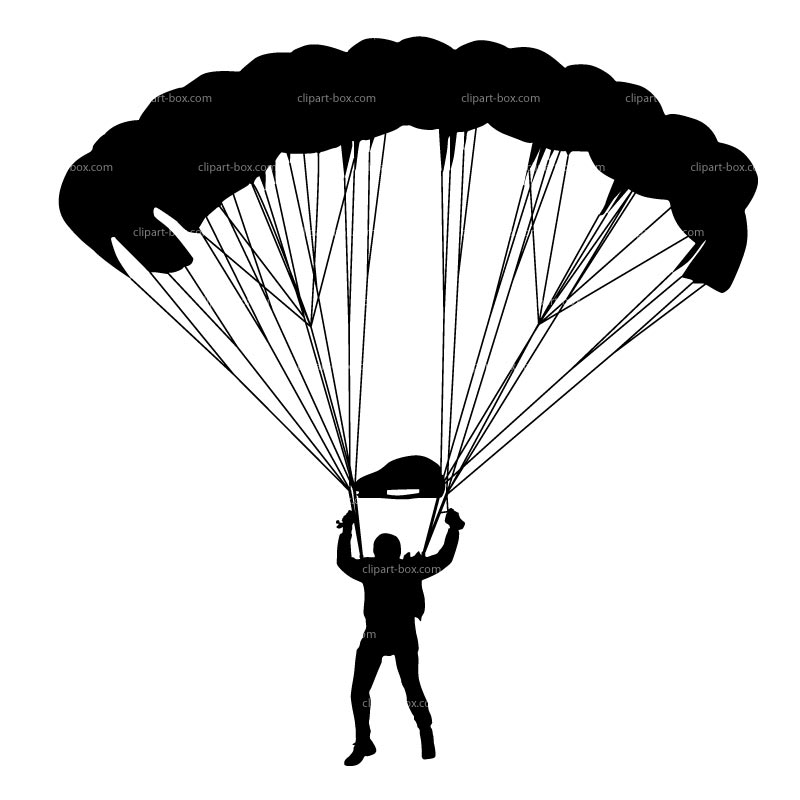 Parachutist clipart And CLIPART free Black Gallery