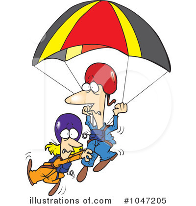 Parachutist clipart cartoon (RF) #1047205 toonaday Illustration Free