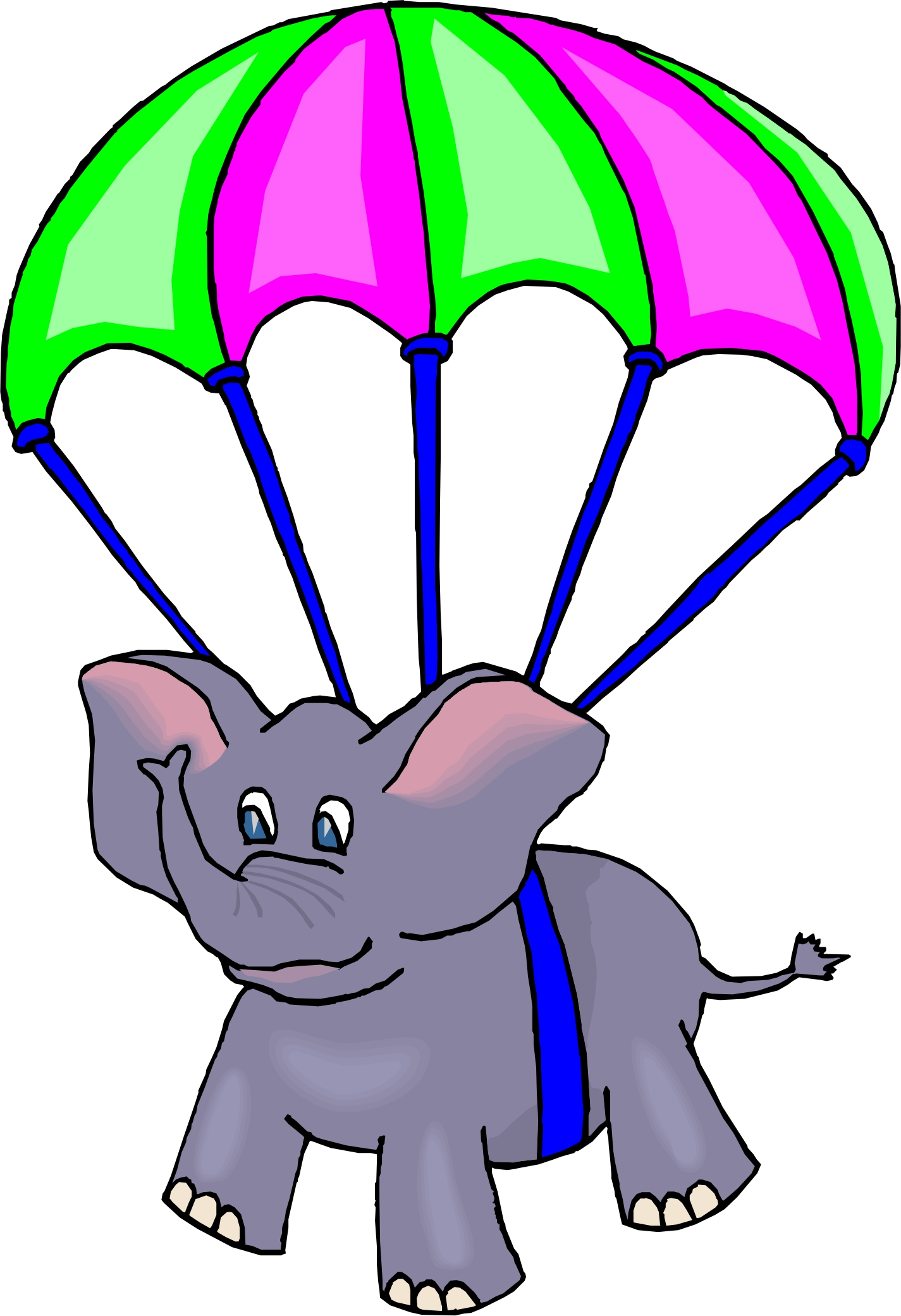 Parachutist clipart cartoon Parachute Clipart and Parachute Drop