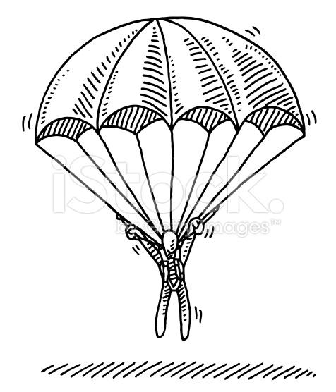 Parachutist clipart chute On tumblr  stock Stick