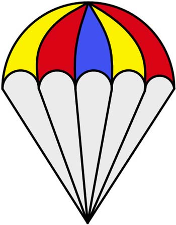 Parachutist clipart chute Patterns Silhouette Stained  These